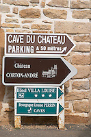 Chateau Corton Andre. Aloxe-Corton village, Cote de Beaune, d'Or, Burgundy, France