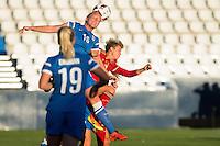 Finland's Anna Westerlund and Spain's Amanda Sampedro during the match of  European Women's Championship 2017 at Leganes, between Spain and Finland. September 20, 2016. (ALTERPHOTOS/Rodrigo Jimenez) NORTEPHOTO
