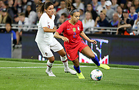 Saint Paul, MN - SEPTEMBER 03: Mallory Pugh #2 of the United States during their 2019 Victory Tour match versus Portugal at Allianz Field, on September 03, 2019 in Saint Paul, Minnesota.
