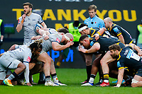 27th March 2021; Ricoh Arena, Coventry, West Midlands, England; English Premiership Rugby, Wasps versus Sale Sharks; A scrum prepares to engage