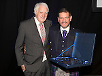 St Johnstone FC Hall of Fame Dinner, Perth Concert Hall….03.04.16<br />Chairman Steve Brown with Hall of Fame Inductee Ron McKinven<br />Picture by Graeme Hart.<br />Copyright Perthshire Picture Agency<br />Tel: 01738 623350  Mobile: 07990 594431