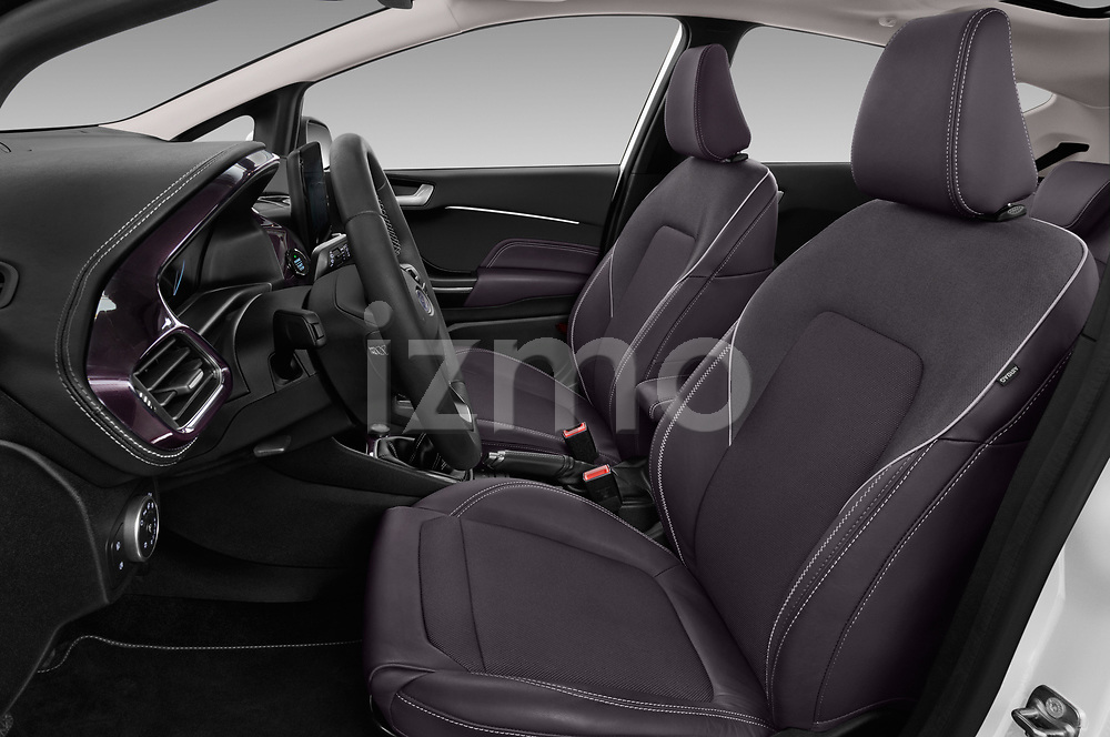 Front seat view of a 2018 Ford Fiesta Vignale Base 5 Door Hatchback front seat car photos