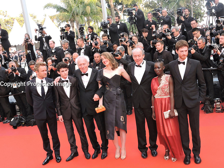 Olivier Bonnaud, Nadege Ouedraogo, Luc Dardenne, Adele Haenel, Jean-Pierre Dardenne, Louka Minnella Jeremie Renier attend 'The Unknown Girl (La Fille Inconnue)' Premiere during the 69th annual Cannes Film Festival at the Palais des Festivals on May 18, 2016 in Cannes, France
