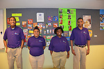 As part of the H.E.A.R.T. partnership with HISD, 17 high school students with disabilities are working and learning on the job at the Houston Food Bank. Dylan, Grecia, Laronda, and Trevor act as tour guides.