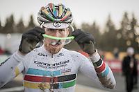 Stephen Hyde (USA/Cannondale) post-race<br /> <br /> 2016 CX Superprestige Spa-Francorchamps (BEL)