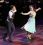"""Tony Yazbeck and Laura Osnes during the Manhattan Concert Productions 25th Anniversary concert performance of """"Crazy for You"""" at David Geffen Hall, Lincoln Center on February 19, 2017 in New York City."""