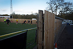 Alvechurch FC 3 Highgate United 0, 26/12/2016. Lye Meadow, Midland Football League Premier Division. The visiting team's players warming up at Lye Meadow before Alvechurch hosted Highgate United in a Midland Football League premier division match. Originally founded in 1929 and reformed in 1996 after going bust, the club has plans to move from their current historic ground to a new purpose-built stadium in time for the 2017-18 season. Alvechurch won this particular match by 3-0, watched by 178 spectators, taking them back to the top of the league. Photo by Colin McPherson.