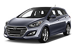 2015 Hyundai I30 Go 5 Door Wagon Angular Front stock photos of front three quarter view