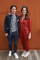Anouchka Delon and boyfriend Julien Dereins seen at 'Le Village de Roland Garros' during Roland Garros tennis open 2016 on may 27 2016.