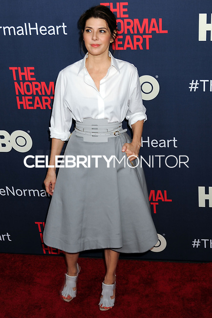 """NEW YORK CITY, NY, USA - MAY 12: Marisa Tomei at the New York Screening Of HBO's """"The Normal Heart"""" held at the Ziegfeld Theater on May 12, 2014 in New York City, New York, United States. (Photo by Celebrity Monitor)"""