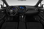 Stock photo of straight dashboard view of 2018 Toyota C-HR XLE-Premium 5 Door SUV Dashboard