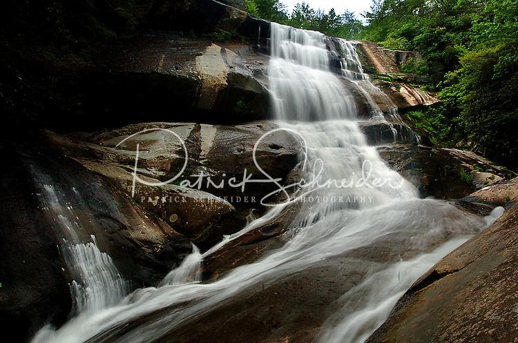 The impressive Harper Creek Waterfall in the North Carolina's Blue Ridge mountains.
