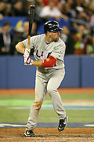 March 8, 2009:  First baseman Kevin Youkilis (21) of Team USA during the first round of the World Baseball Classic at the Rogers Centre in Toronto, Ontario, Canada.  Team USA defeated Venezuela  15-6 to secure a spot in the second round of the tournament.  Photo by:  Mike Janes/Four Seam Images