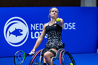 Alphen aan den Rijn, Netherlands, December 15, 2018, Tennispark Nieuwe Sloot, Ned. Loterij NK Tennis, Semifinal Wheelchair Woman: Did de Groot (NED)<br /> Photo: Tennisimages/Henk Koster
