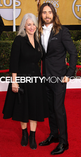 LOS ANGELES, CA - JANUARY 18: Connie Leto, Jared Leto at the 20th Annual Screen Actors Guild Awards held at The Shrine Auditorium on January 18, 2014 in Los Angeles, California. (Photo by Xavier Collin/Celebrity Monitor)