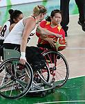 Janet McLachlan, Rio 2016 - Wheelchair Basketball // Basketball en fauteuil roulant.<br /> Canada vs. China in women's Wheelchair Basketball  // Le Canada contre la Chine en  basketball en fauteuil roulant féminin . 16/09/2016.