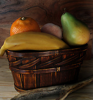 Fruit in a Basket<br /> Photo By Adam Scull/PHOTOlink.net