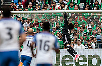 Mexico City, Mexico - Sunday June 11, 2017: Guillermo Ochoa during a 2018 FIFA World Cup Qualifying Final Round match with both men's national teams of the United States (USA) and Mexico (MEX) playing to a 1-1 draw at Azteca Stadium.