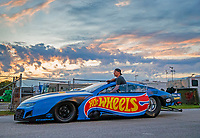 Aug 31, 2019; Clermont, IN, USA; NHRA pro mod driver Alex Laughlin during qualifying for the US Nationals at Lucas Oil Raceway. Mandatory Credit: Mark J. Rebilas-USA TODAY Sports
