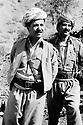 Iraq 1985   In Lolan, liberated district, during the war Irak-Iran, Masoud Barzani with Mullazem Ali, chief of peshmergas<br /> Irak 1985   Dans le Lolan, zone liberée, pendant la guerre Iran-Irak, Masoud Barzani avec Mullazem ALi , commandant de peshmerga