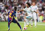 Marcelo Vieira Da Silva (r) of Real Madrid fights for the ball with Nelson Cabral Semedo of FC Barcelona during their Supercopa de Espana Final 2nd Leg match between Real Madrid and FC Barcelona at the Estadio Santiago Bernabeu on 16 August 2017 in Madrid, Spain. Photo by Diego Gonzalez Souto / Power Sport Images