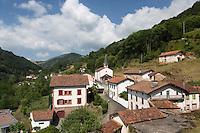 France, Aquitaine, Pyrénées-Atlantiques, Pays Basque,   Vallée des Aldudes,  Banca,   //  France, Pyrenees Atlantiques, Basque Country,  Aldudes Valley,  Banca