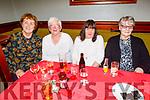 Bernadette Tagney,  Angela Walsh, Phil Barrett and Marie Brosnan enjoying Womens Christmas in the Munster Bar on Saturday.