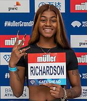 22nd May 2021; Hilton Hotel,  Gateshead, England;  Diamond League Muller Athletics Grand Prix Gateshead press conference; Sha'Carri Richardson at the press conference