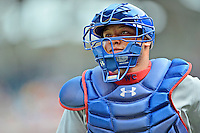 3 September 2012: Chicago Cubs catcher Welington Castillo in action against the Washington Nationals at Nationals Park in Washington, DC. The Nationals edged out the visiting Cubs 2-1, in the first game of heir 4-game series. Mandatory Credit: Ed Wolfstein Photo