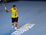 January 20, 2010T\.Juan Martin Del Potro, of Argentina, in action, defeating Andy Murray of the USA, 6-4, 6-7, 5-7 , 6-3, 10-8 in the second round of  The Australian Open, Melbourne Park, Melbourne, Australia.