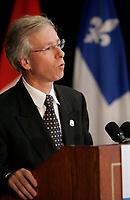 Stephane Dion<br /> Minsitre de l'environement, canada<br /> Environment Minister, canada<br /> Photo : (c) 2005 Pierre Roussel