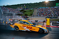 Jul 19, 2019; Morrison, CO, USA; NHRA funny car driver J.R. Todd during qualifying for the Mile High Nationals at Bandimere Speedway. Mandatory Credit: Mark J. Rebilas-USA TODAY Sports