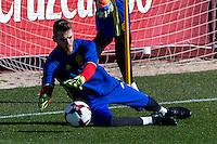 Spainsh David de Gea during the training of the spanish national football team in the city of football of Las Rozas in Madrid, Spain. November 10, 2016. (ALTERPHOTOS/Rodrigo Jimenez) ///NORTEPHOTO.COM