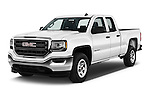 2017 GMC Sierra-1500 Double-Cab 4 Door Pickup Angular Front stock photos of front three quarter view