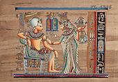 Interlitho, MODERN, Fantasy, paintings, couple, egyptian symbols, KL4346,#N# illustrations, pinturas