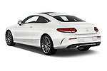 Car pictures of rear three quarter view of 2019 Mercedes Benz C-Class AMG-Line 2 Door Coupe Angular Rear