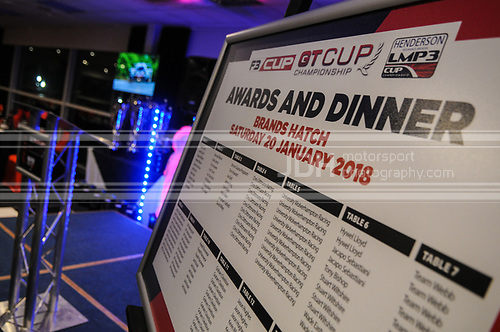 F3 Cup / GT Cup / LMP3 Cup Awards Dinner : Brands Hatch : 20 January 2018