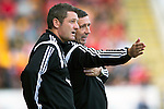 St Johnstone v Aberdeen...23.08.14  SPFL<br /> Derek McInnes and Tony Docherty<br /> Picture by Graeme Hart.<br /> Copyright Perthshire Picture Agency<br /> Tel: 01738 623350  Mobile: 07990 594431