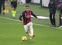 Milano  05-12-2020<br /> Stadio Giuseppe Meazza<br /> Campionato Serie A Tim 2020/21<br /> Milan - parma<br /> nella foto:   Theo Hernandez                                                       <br /> Antonio Saia Kines Milano