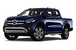 Stock pictures of low aggressive front three quarter view of a 2018 Mercedes Benz X Class Power 4 Door Pick Up