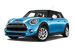 Stock pictures of low aggressive front three quarter view of 2017 MINI Cooper S 5 Door Hatchback Low Aggressive