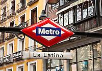 La Latina metro stop.