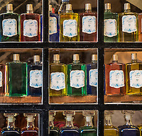 Fragrance compound in a perfumery shop, Gourdon, Provence, France