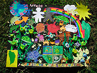 illustration, children's poster to save sea turtles, Dominica, Caribbean, Atlantic Ocean