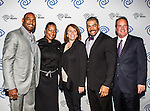 Darren Woodson, Tiffany Derry, Carole Hart,  David Otunga and John McKay at the Time Warner Media Cabletime Upfront media event held at the Private Social Restaurant  in Dallas, Texas.