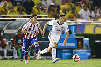 Pasadena, CA - Tuesday June 07, 2016: Colombia midfielder Daniel Torres (16) during a Copa America Centenario Group A match between Colombia (COL) and Paraguay (PAR) at Rose Bowl Stadium.