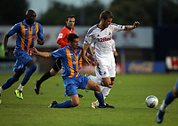 Pictured: Tuesday 23 August 2011<br /> Re: Carling Cup Shrewsbury Town FC v Swansea City FC at the Greenhous Meadow ground, Shropshire.