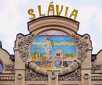 Hotel und Café Slavia, Hlavna 63 in Kosice, Kosicky kraj, Slowakei, Europa<br /> Hotel and Café Slavia, Hlavna 63 in Kosice, Kosicky krajj, Slovakia, Europe