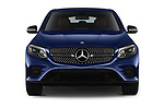 Car photography straight front view of a 2018 Mercedes Benz GLC Coupe GLC300 4WD 5 Door SUV