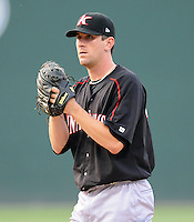 Pitcher Paul Burnside (43) of the Kannapolis Intimidators, Class A affiliate of the Chicago White Sox, in a game against the Greenville Drive May 25, 2011, at Fluor Field at the West End in Greenville, S.C. Photo by Tom Priddy / Four Seam Images
